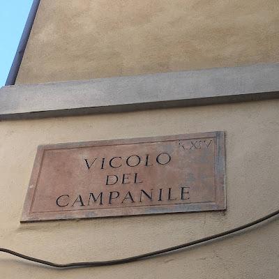 Vicolo del Campanile Targa
