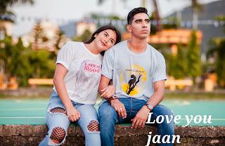 Love Shayari For Girlfriend , lovely couple image
