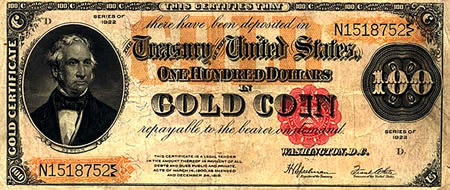 US gold certificate