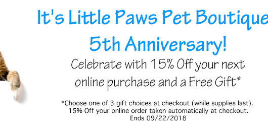 It's Little Paws Pet Boutiques 5th Year Anniversay!