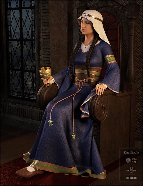 dForce Bliaut for Genesis 8 Female