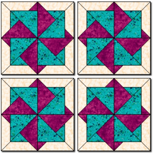 Twisting Star Block - Free Pattern