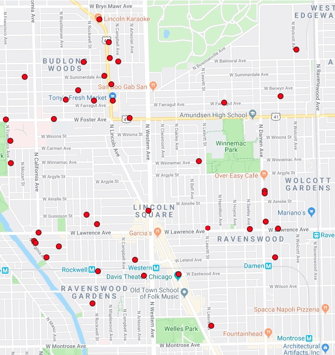 on chicago shootings map