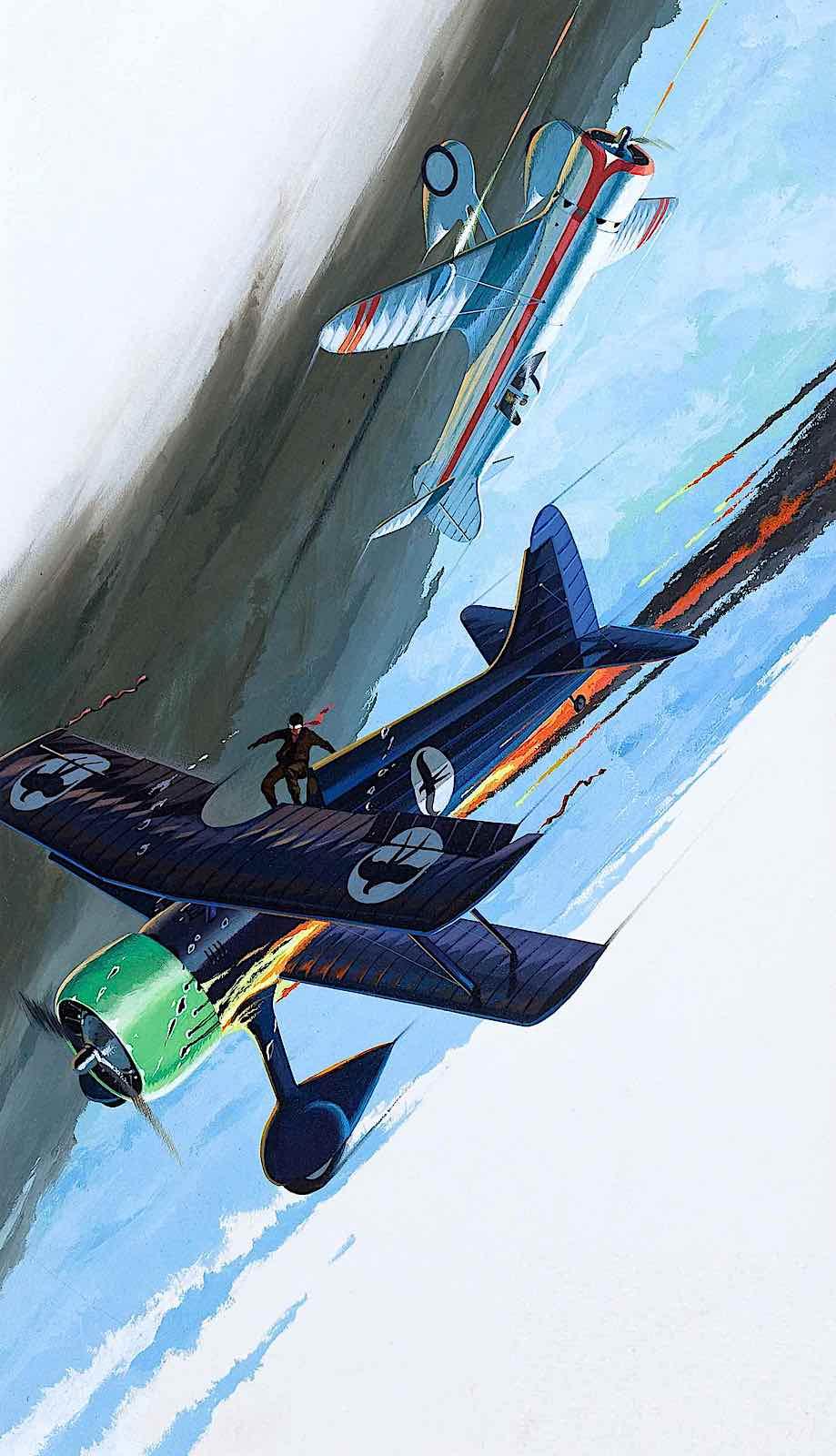 a Jo Kotula illustration of a falling airplane