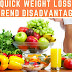 "The ""Quick Weight Loss Diet"" Trend Disadvantage"
