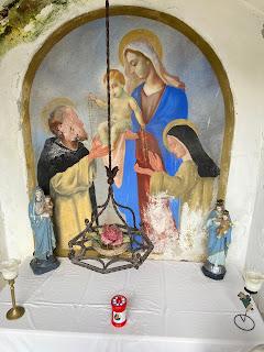 A roadside altar on the way to Maresana.