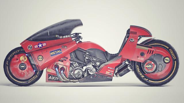Akira - Kaneda's Power Bike by James Qiu on Behance