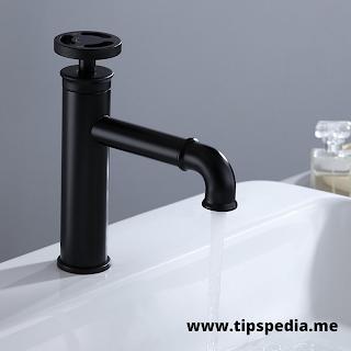 matt black bathroom faucet