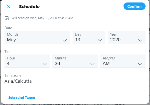 جدولة منشورات تويتر 2020 بسرعة بدون تطبيقات