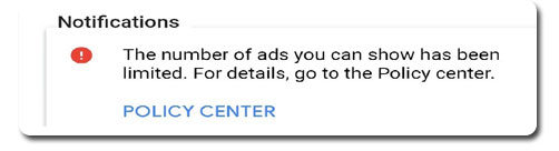 ads-you-can-show-has-been-limited