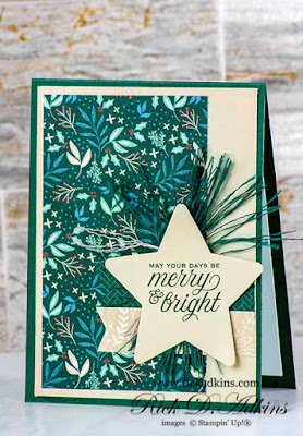 Make the season Merry & Bright with the Tidings & Trimmings Bundle from Stampin' Up! Click here to find out how I made this card.