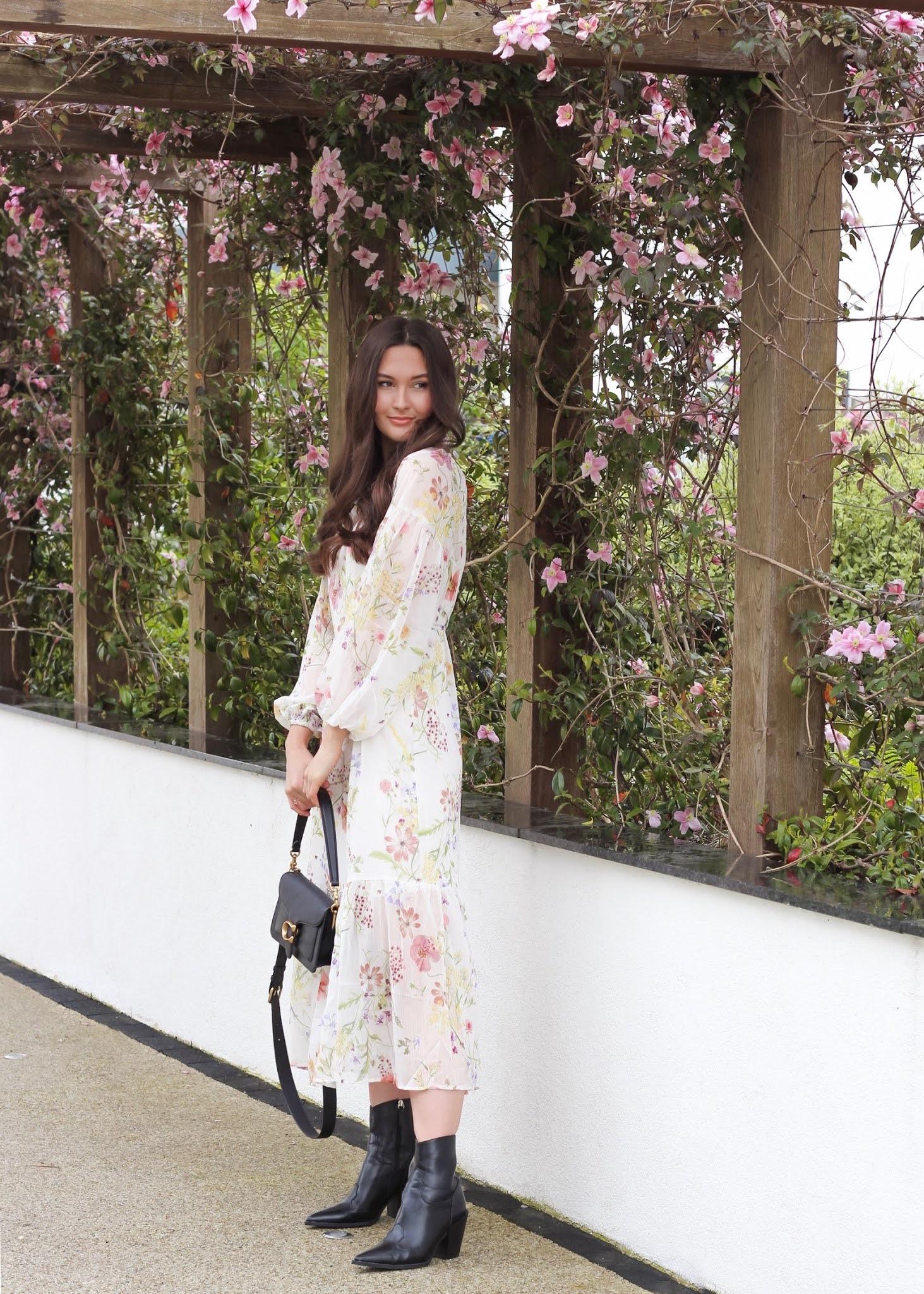 h&m wildflower dress
