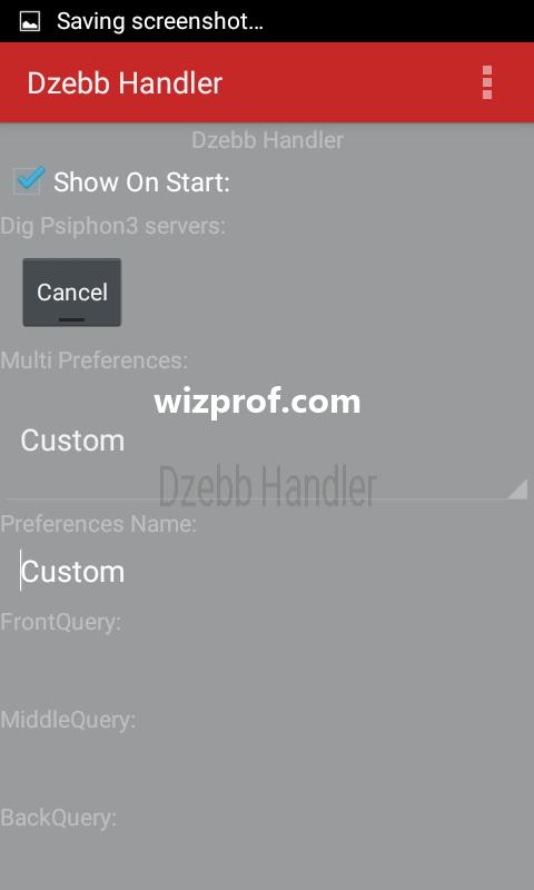 Psiphon handler new proxy server