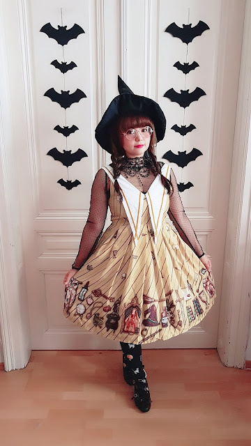 violet fane hufflepuff hogwarts lolita fashion jsk dress kawaii auris lothol