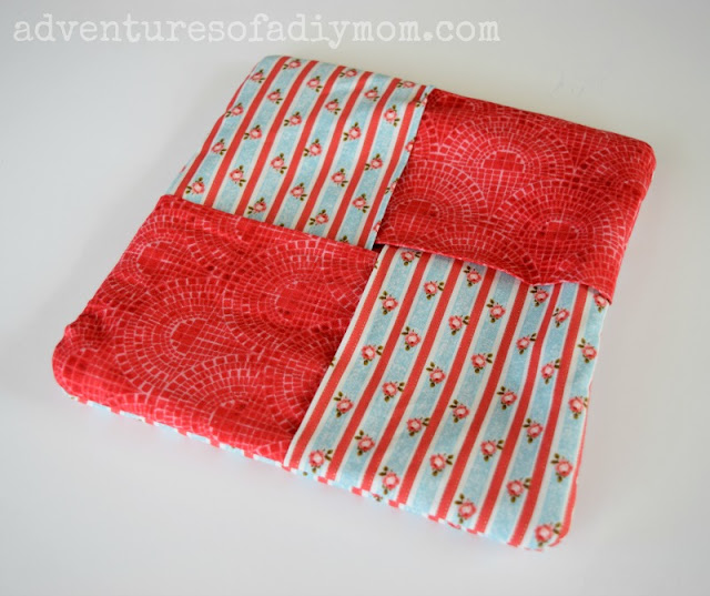 Easy Fabric Hot Pad - Teaching Kids to Sew