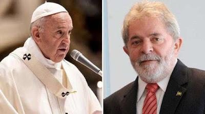 imagem do Papa Francisco e Lula