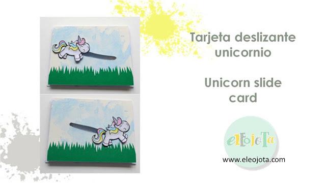 tutorial tarjeta unicornio kawaii