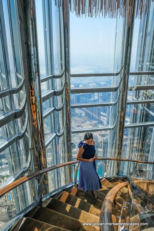staircase in Atmosphere Burj Khalifa
