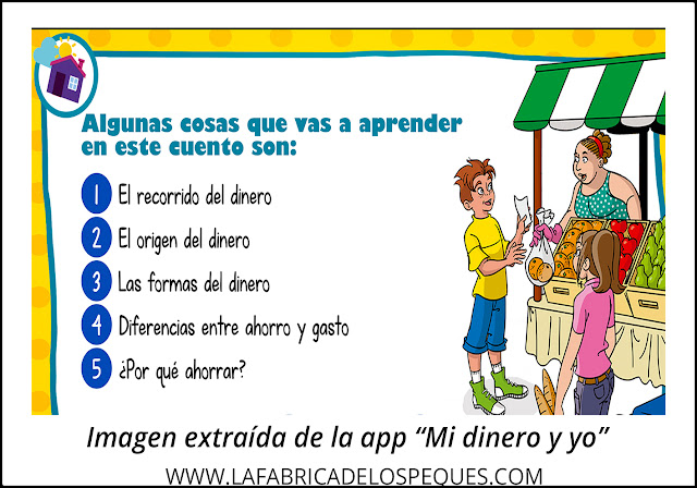 Educación financiera para niños. App Mi dinero y yo