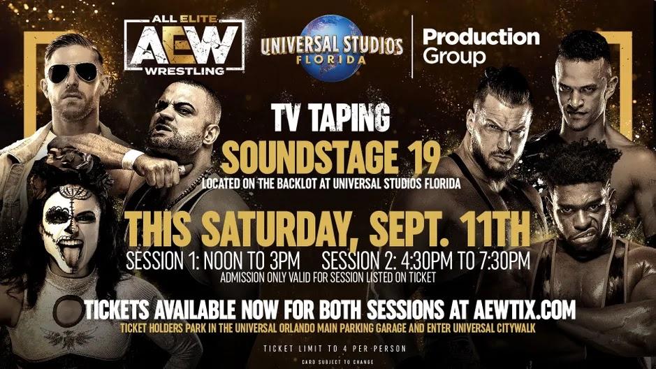 AEW anuncia gravações para a Universal Studios