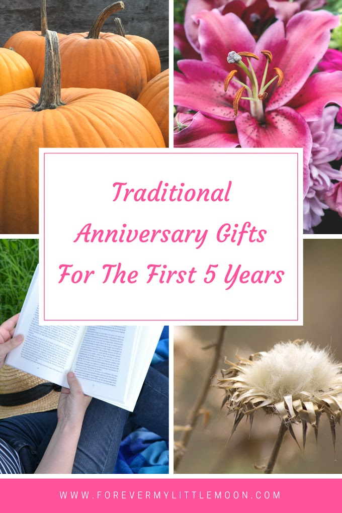 Traditional Anniversary Gifts For The First 5 Years
