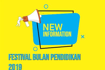 TIMELINE KHUSUS - FESTIVAL BULAN PENDIDIKAN (FBP) 2019
