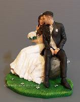 statuette sposi realistiche per torta matrimonio decorazione torta orme magiche