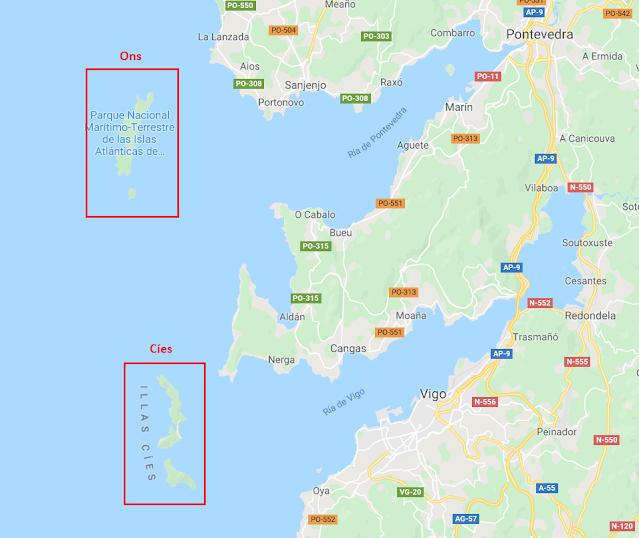 donde están las islas Cíes