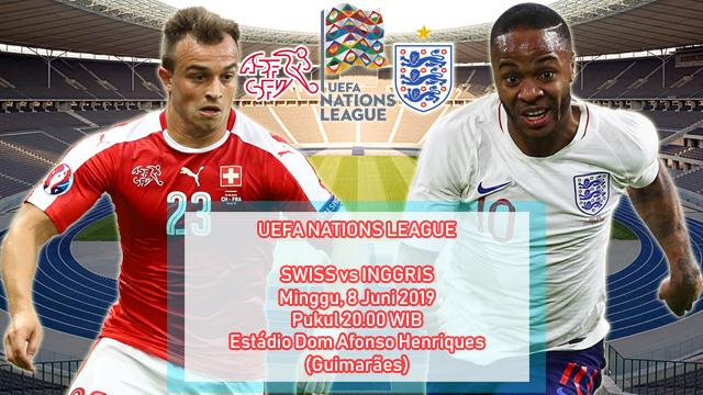 Prediksi Tempat Ketiga UEFA Nations League Swiss vs Inggris (9 Juni 2019)