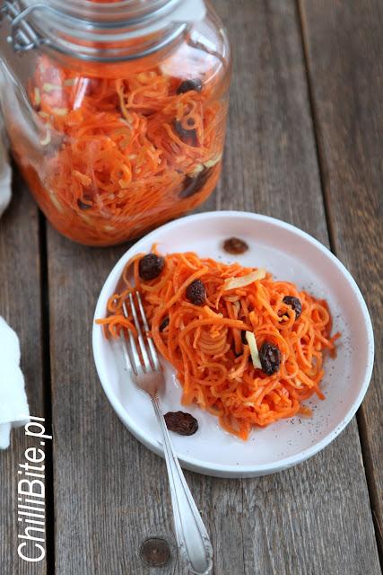 kiszona marchewka spaghetti warzywne