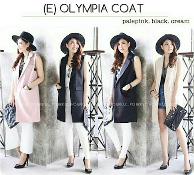 Jual Outer / Cardigan / Knit Olympia Long Vest - 12827