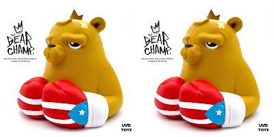 The Bear Champ OG Pose Puerto Rican Flag Edition Vinyl Bust by JC Rivera x UVD Toys