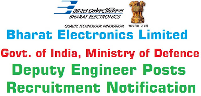 BEL,Deputy Engineers,Recruitment