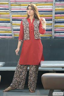 Simple Cotton Solid Kurti  Sets