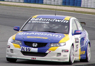Giovanardi finished third in the 2005 World Championship in this Honda Accord