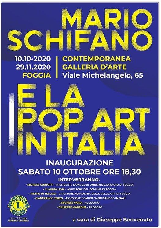 Arte: a Foggia la mostra su Mario Schifano e la Pop Art italiana