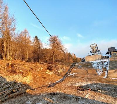 Obere Station: Stahldrahtseil ziehen