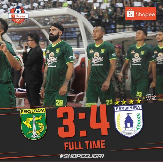 Persebaya Surabaya vs Persipura Jayapura 3-4