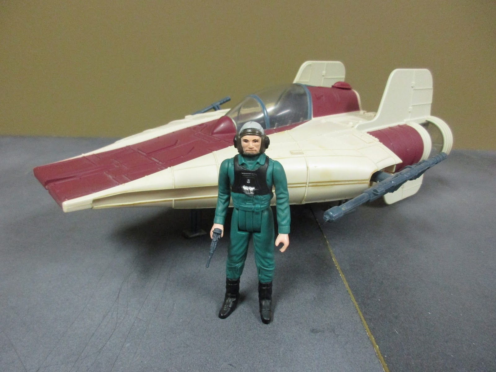 Power of the Force A-Wing Fighter with Pilot Vehicle Kenner Star Wars