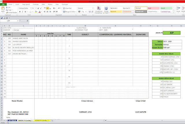 Aplikasi Absen Siswa Otomatis Menggunakan Excel | Tingkat SMA dan SMK