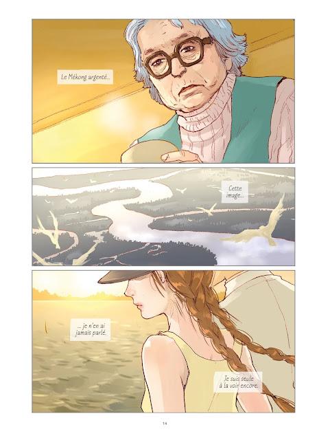 L'amant d'après le roman de Marguerite Duras par Kan Takahama aux éditions Rue de Sèvres page 14