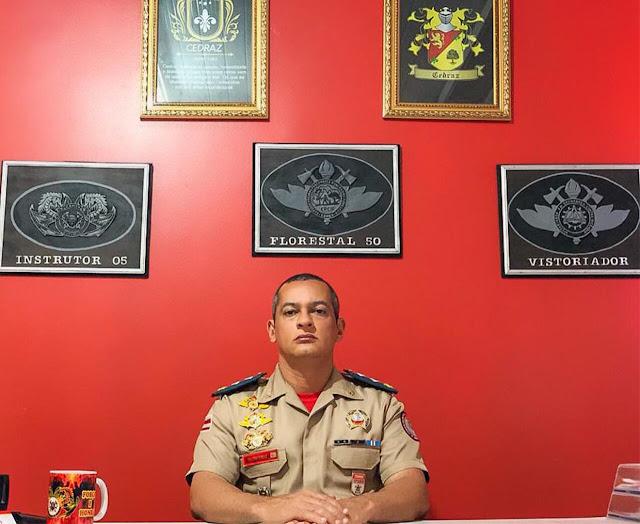 *Major Cedraz é nomeado para novo cargo no Comando de Operações de Bombeiros Militares do Interior (COBM-I), e 17º GBM tem novo comandante*