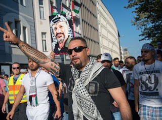 Antisemitic, pro-Palestinian demonstration in Berlin, July 17, 2014, photo by Boris Niehaus via Wikipedia