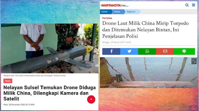 Drone Mata-mata China Ditemukan di Laut RI, Ternyata Ini yang Ketiga Kalinya