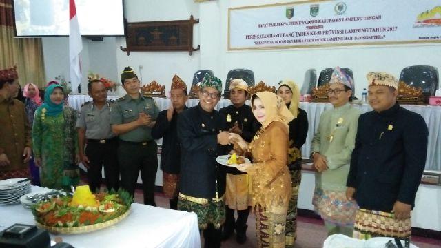 DPRD Lampung Tengah Menggelar Rapat Paripurna Dalam Rangka HUT Provinsi Lampung Ke 53.