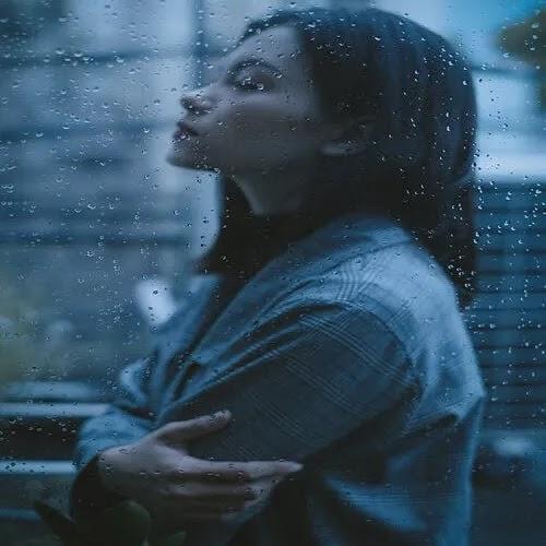 sad thinking girl