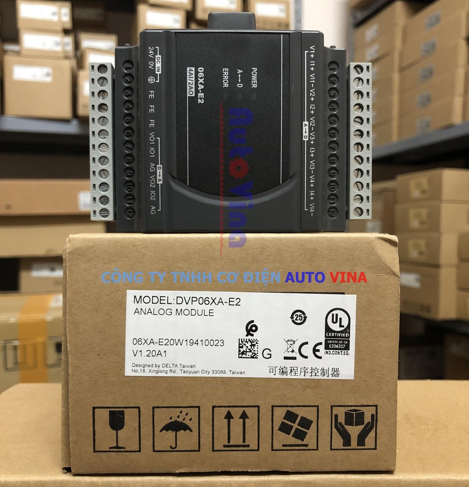 Đại lý bán module analog PLC Delta DVP06XA-E2 4 ngõ vào analog và 2 ngõ ra analog