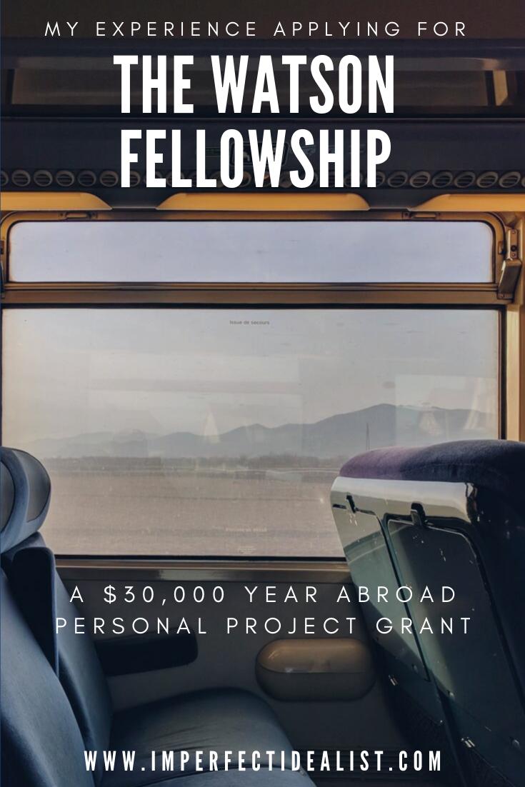 watson fellowship sample project