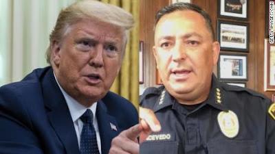 houston police chief Art Avecedo tells trump to shut up