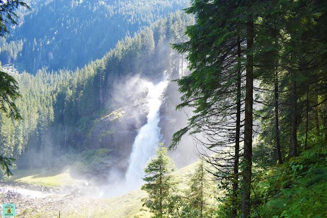 Nivel inferior de las cataratas Krimml, Austria